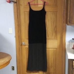 Niki Lavis Black Velvet Dress Sz 10